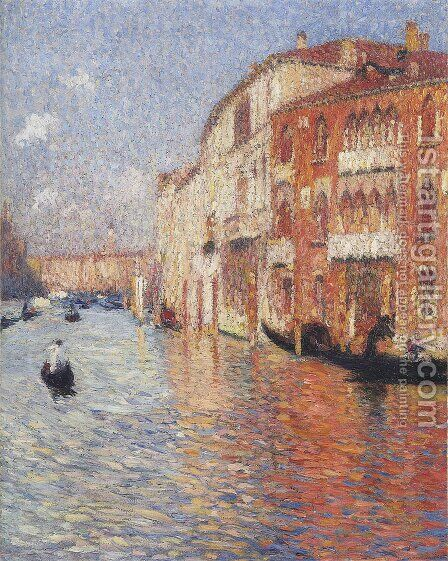 Jaune Palace in Venice by Henri Martin - Reproduction Oil Painting