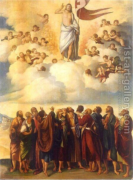 Ascension of Christ by Dosso Dossi (Giovanni di Niccolo Luteri) - Reproduction Oil Painting