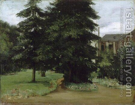 The Garden of the Loos les Lille Abbacy by Gustave Courbet - Reproduction Oil Painting