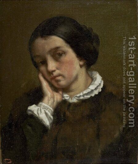 Portrait of Zelie Courbet 2 by Gustave Courbet - Reproduction Oil Painting