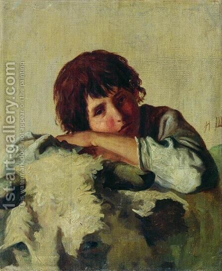 Italian boy by Ivan Shishkin - Reproduction Oil Painting