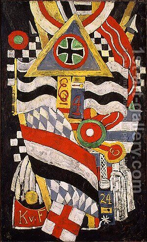Portrait of a German Officer by Marsden Hartley - Reproduction Oil Painting