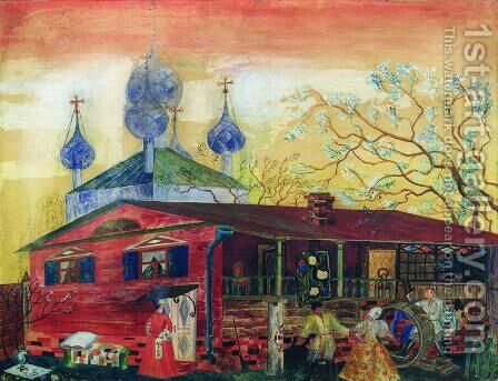 Shostakovich Museum of Art by Boris Kustodiev - Reproduction Oil Painting