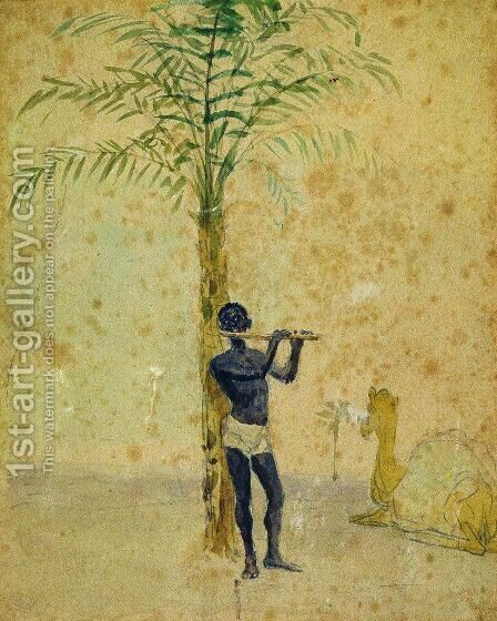 African Motiff by Ilya Efimovich Efimovich Repin - Reproduction Oil Painting