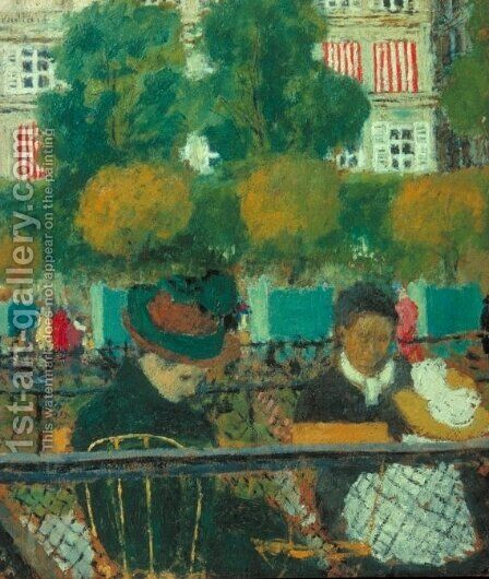 The Tuileries Gardens, Paris by Edouard  (Jean-Edouard) Vuillard - Reproduction Oil Painting