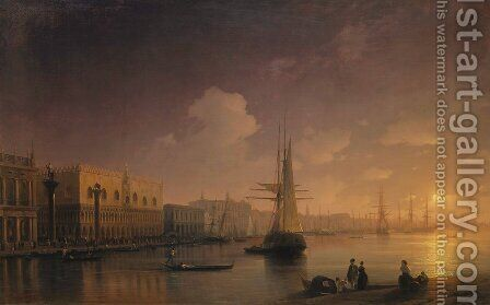 Venetian Night by Ivan Konstantinovich Aivazovsky - Reproduction Oil Painting
