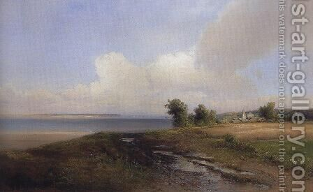 Landscape. Bank of the Volga by Alexei Kondratyevich Savrasov - Reproduction Oil Painting