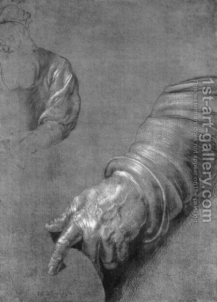 Left Arm by Albrecht Durer - Reproduction Oil Painting