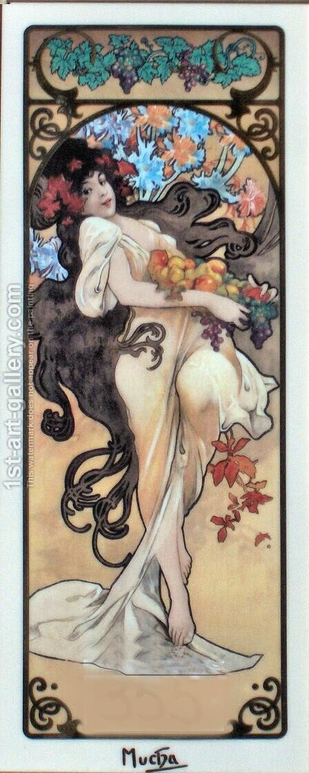 Amethyst by Alphonse Maria Mucha - Reproduction Oil Painting