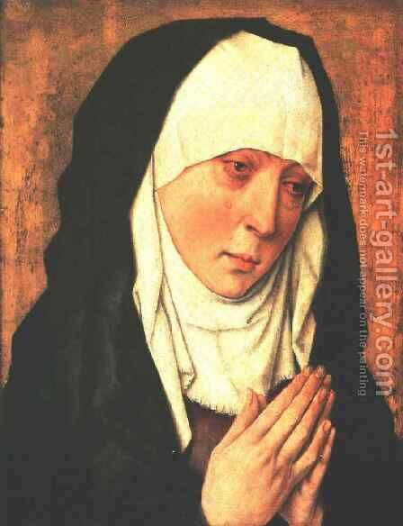 Mater Dolorosa by Dieric the Elder Bouts - Reproduction Oil Painting