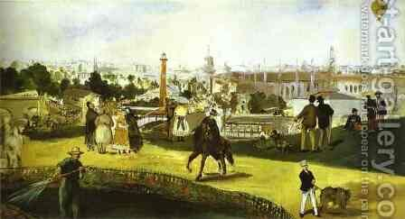 The Exposition Universelle by Edouard Manet - Reproduction Oil Painting