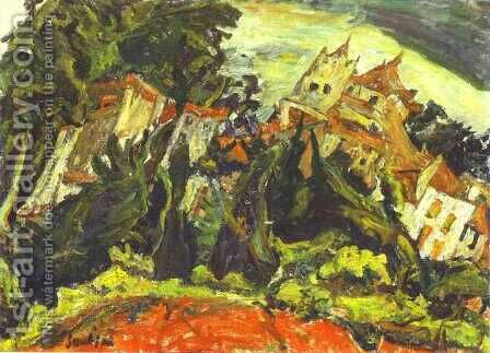 Houses at Ceret by Chaim Soutine - Reproduction Oil Painting