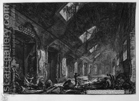 View of a Eliocamino to dwell in the winter, which was heated by the sun, which is introduced for windows by Giovanni Battista Piranesi - Reproduction Oil Painting