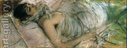 The Countess de Rasty Lying by Giovanni Boldini - Reproduction Oil Painting