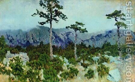 Three pines by Isaak Ilyich Levitan - Reproduction Oil Painting