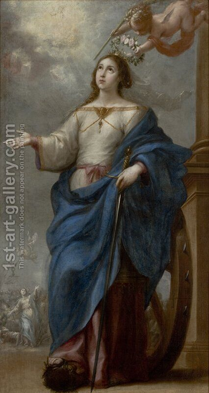 Saint Catherine of Alexandria by Bartolome Esteban Murillo - Reproduction Oil Painting
