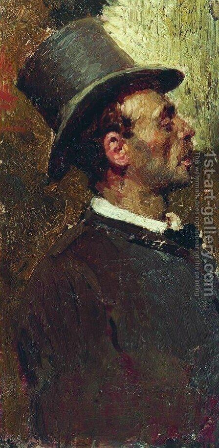 Hat man by Ilya Efimovich Efimovich Repin - Reproduction Oil Painting