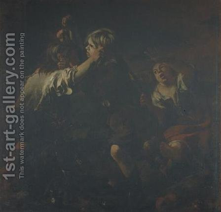 Two Kids are fighting by Bartolome Esteban Murillo - Reproduction Oil Painting