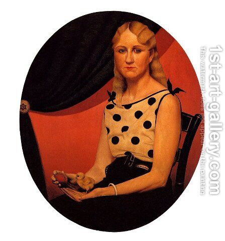 Portrait of Nan by Grant Wood - Reproduction Oil Painting