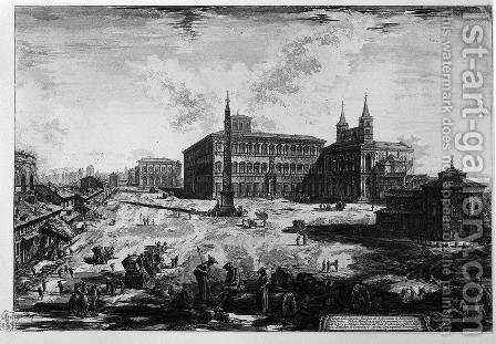 View of the Basilica of St. John Lateran by Giovanni Battista Piranesi - Reproduction Oil Painting