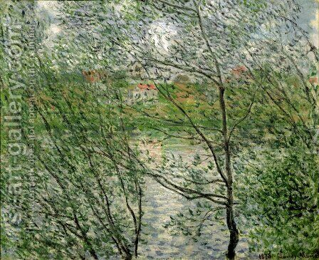 The Isle Grande-Jatte on the Siene by Claude Oscar Monet - Reproduction Oil Painting