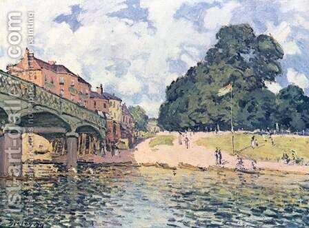 His at Suresne 2 by Alfred Sisley - Reproduction Oil Painting
