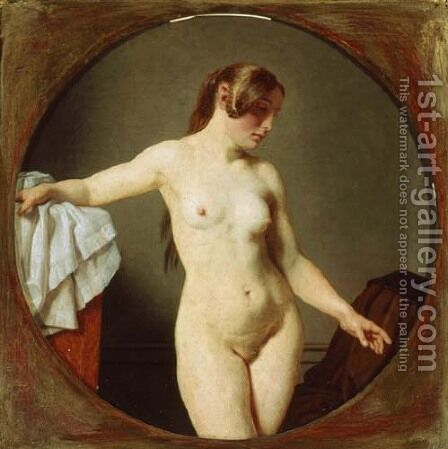 Female Model, Florentine by Christoffer Wilhelm Eckersberg - Reproduction Oil Painting