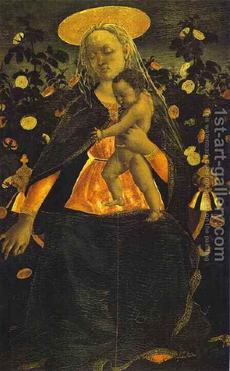 Virgin and Child by Domenico Veneziano - Reproduction Oil Painting