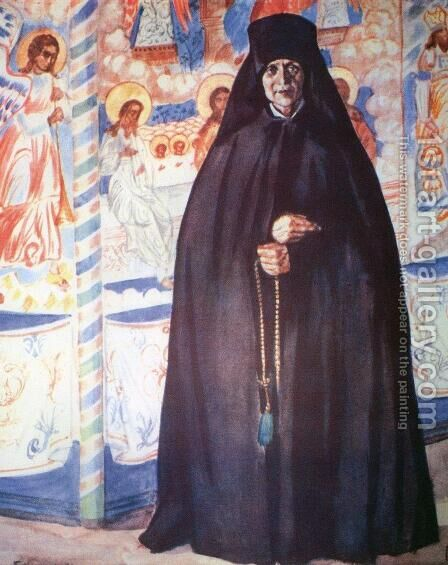 Abbess 3 by Boris Kustodiev - Reproduction Oil Painting