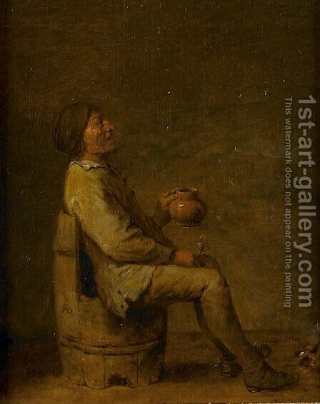 The Drinker by Adriaen Brouwer - Reproduction Oil Painting