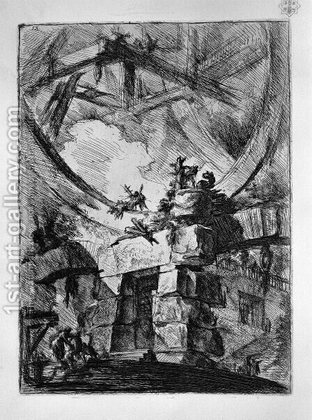 The Giant Wheel by Giovanni Battista Piranesi - Reproduction Oil Painting