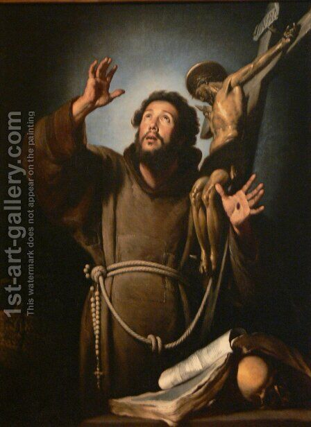 St.Francis in ecstasy by Bernardo Strozzi - Reproduction Oil Painting
