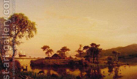 Gosnold at Cuttyhunk by Albert Bierstadt - Reproduction Oil Painting