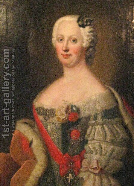 Joanna Elisabeth of Holstein-Gottorp by Antoine Pesne - Reproduction Oil Painting