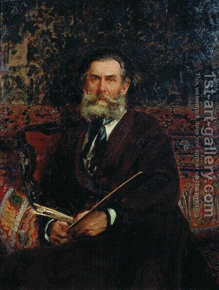Portrait of the Artist A. P. Bogolubov by Ilya Efimovich Efimovich Repin - Reproduction Oil Painting