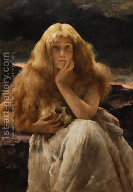 Maria Magdalena by Alfred Stevens - Reproduction Oil Painting