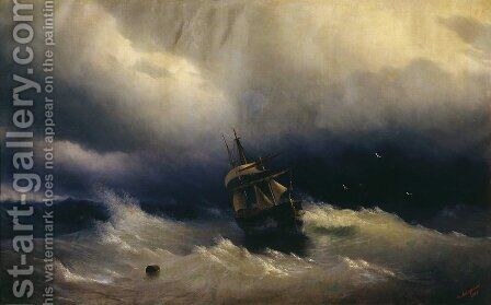 Sea 8 by Ivan Konstantinovich Aivazovsky - Reproduction Oil Painting