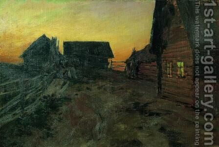 Huts by Isaak Ilyich Levitan - Reproduction Oil Painting