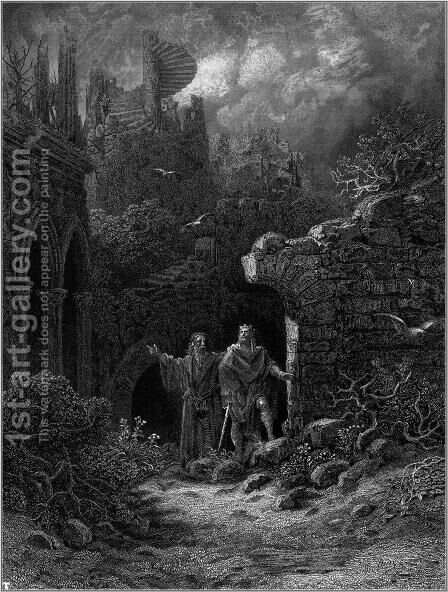 Idylls of the King 13 by Gustave Dore - Reproduction Oil Painting