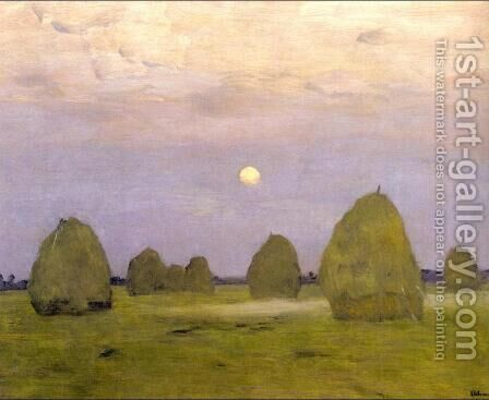 Twilight. Stacks by Isaak Ilyich Levitan - Reproduction Oil Painting