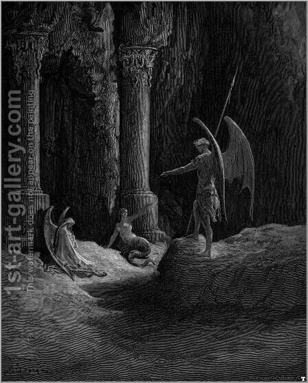 Paradise Lost 8 by Gustave Dore - Reproduction Oil Painting