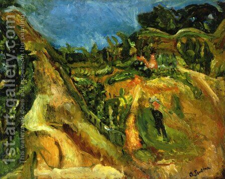 Midday Landscape by Chaim Soutine - Reproduction Oil Painting