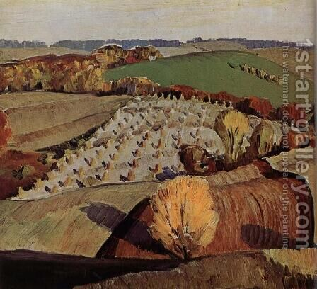Landscape by Grant Wood - Reproduction Oil Painting