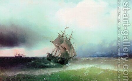 Approximation of the storm by Ivan Konstantinovich Aivazovsky - Reproduction Oil Painting