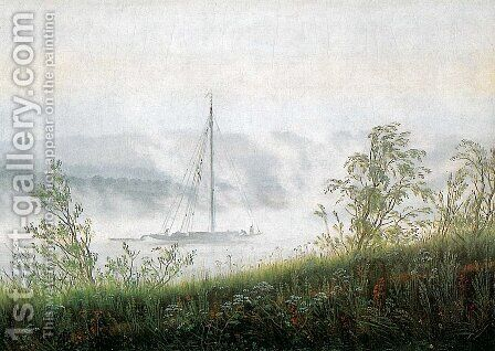Elbschiff in early morning fog by Caspar David Friedrich - Reproduction Oil Painting