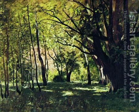 In the park 2 by Isaak Ilyich Levitan - Reproduction Oil Painting