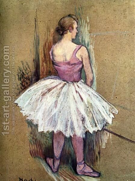 Standing Dancer by Toulouse-Lautrec - Reproduction Oil Painting