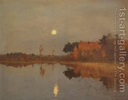 Twilight. Moon. 2 by Isaak Ilyich Levitan - Reproduction Oil Painting