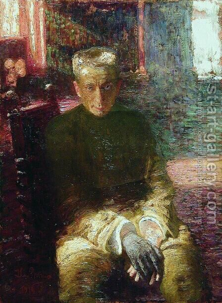 Portrait of Alexander Kerensky by Ilya Efimovich Efimovich Repin - Reproduction Oil Painting