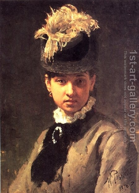 Portrait of Vera Repina, the Artist's Wife by Ilya Efimovich Efimovich Repin - Reproduction Oil Painting